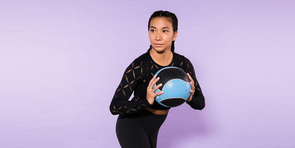 تمرین های ورزشی با توپ پزشکی برای تقویت عضلات شکم