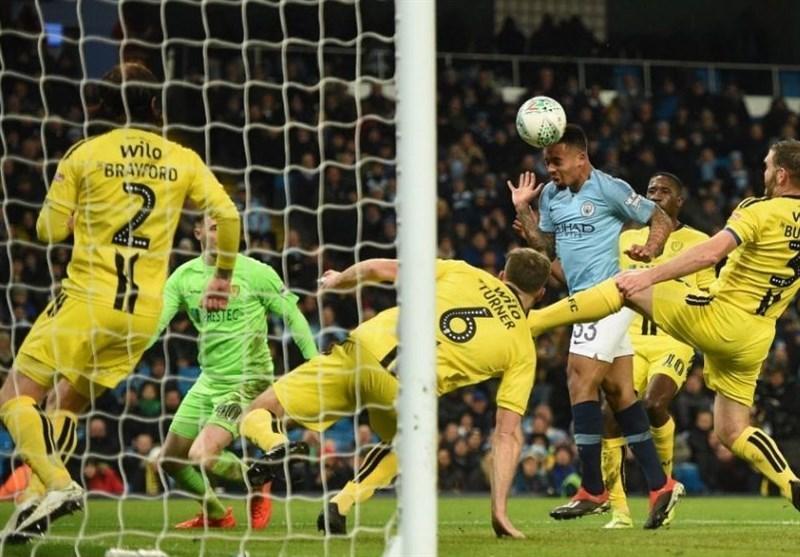 منچسترسیتی با رقم زدن دومین بازی یک طرفه تاریخ جام اتحادیه به یکقدمی فینال رسید