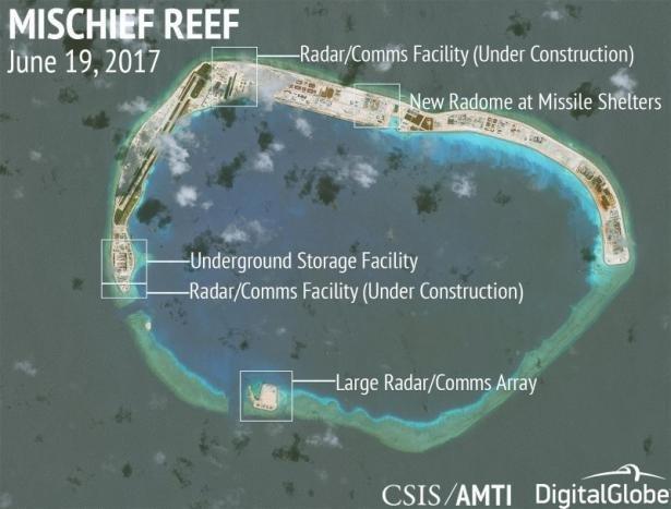 چین تاسیسات جدید نظامی در دریای چین جنوبی ساخته است