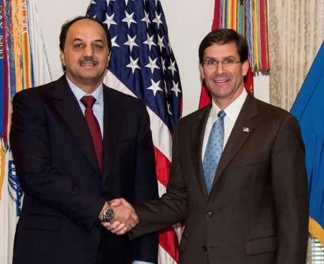 مسائل منطقه ای محور مذاکرات وزیر دفاع آمریکا با همتای قطری اش