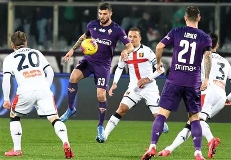 سری A، فیورنتینا در آرتمیو فرانکی مقابل جنوا متوقف شد