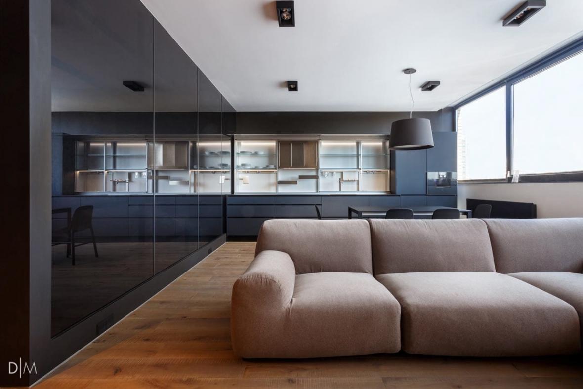 طراحی دکوراسیون داخلی مدرن و مینیمال برای آپارتمانی در کی یف