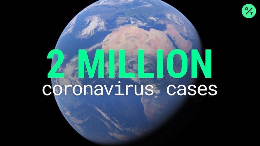 شمار موارد کرونا در دنیا از 2 میلیون و شمار تلفات از 130000 گذشت