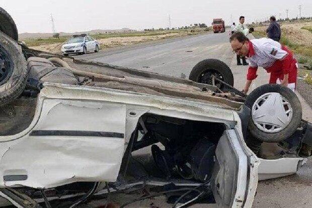 خبرنگاران واژگونی خودرو در ورامین یک کشته و سه مجروح برجا گذاشت