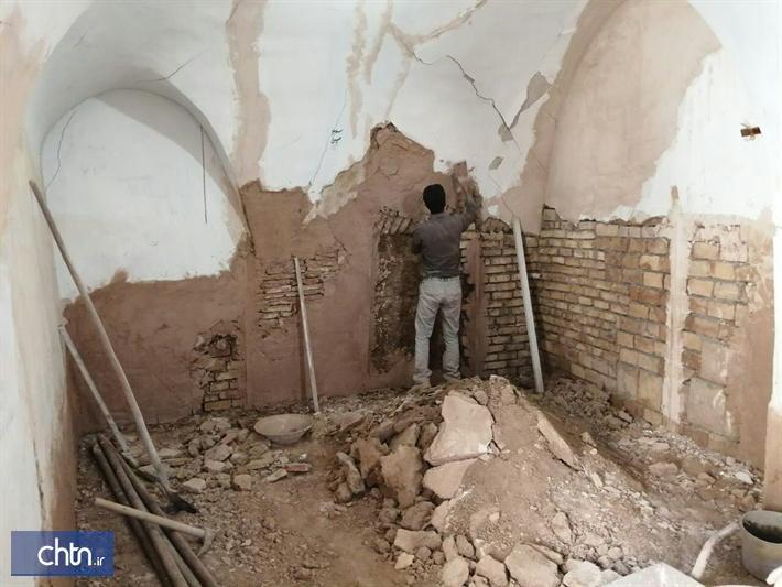 بازسازی مسجد تاریخی ابوریحانه در نایین