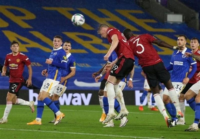 جام اتحادیه فوتبال انگلیس، منچستریونایتد برایتون را در حضور 50 دقیقه ای جهانبخش حذف کرد