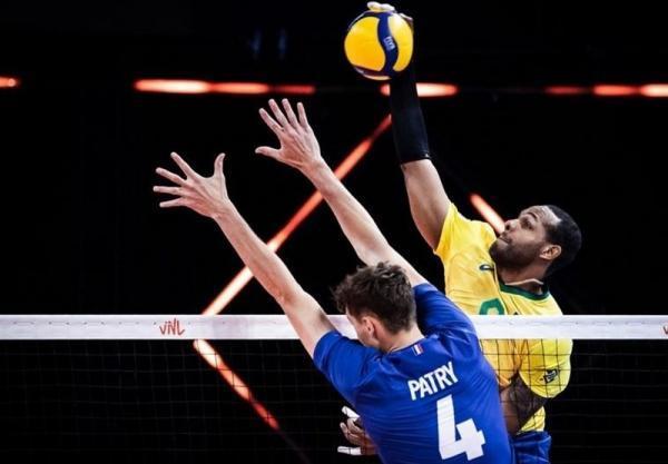 لیگ ملت های والیبال، برزیل با شکست فرانسه فینالیست شد